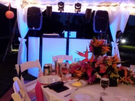 dj booth, uplighting, up lighting