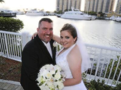 bride, groom, wedding reception, westin hotel, cape coral, florida